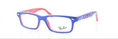 1a5f6383a6 RAY BAN RX5268-5182 Youngster Unisex Blue Frame Clear Lens Genuine ...