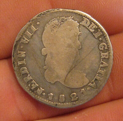 Mexico (Zacatecas) - 1821 Silver 2 Reales (War of Independence)