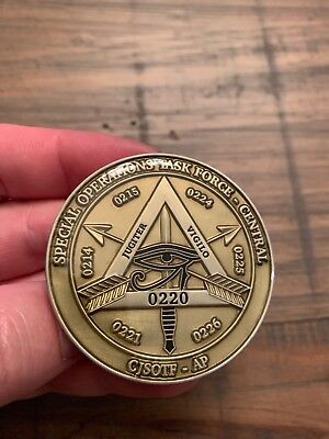 RARE Special Operations Task Force Central CJSOTF Challenge Coin. Special Forces