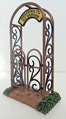 WELCOME TO MY GARDEN GATE Dept 56 Fairy Village Figure New in Box Ships Free