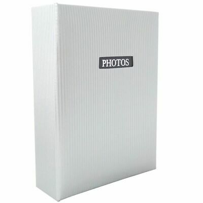 Elegance White 6x4 Slip In Photo Album - 100 Photos Overall Size 6.5x5""