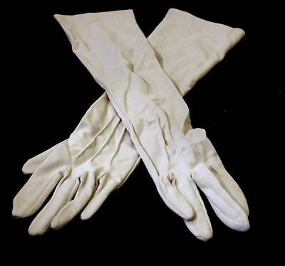 Vintage soft beige Foulis long ladies gloves measuring 38 cm