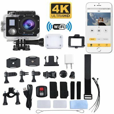 Ultra HD 4K 1080p WIFI Waterproof Sports Action Video Camera Fit Mount charger E