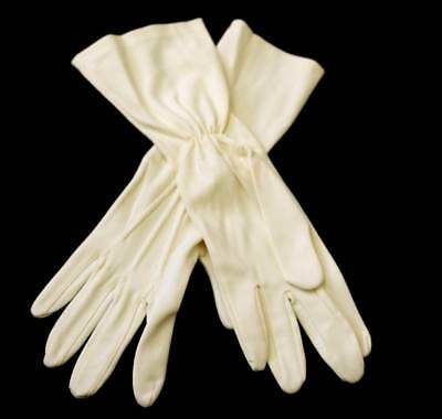 Vintage pretty pastel lemon stretch ladies gloves