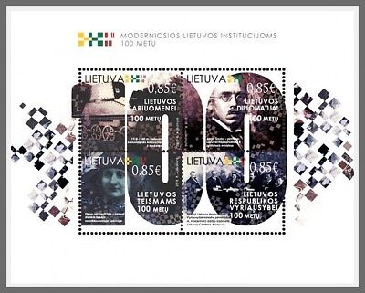 H01 Lithuania 2018 Modern Lithuanian Institutions MNH Mint