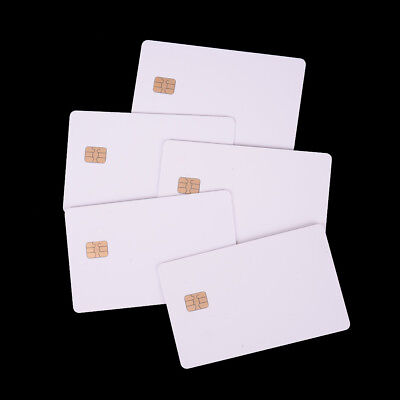 5X ISO PVC IC With SLE4442 Chip Blank Smart Card Contact IC Card Safety White JF