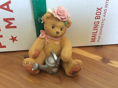 """1996 Enesco Cherished Teddies Figurine Rose """"everything's Coming Up Roses"""""""