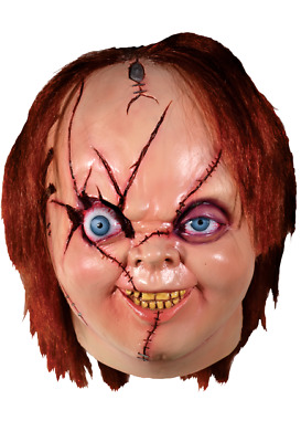 Halloween Costume Bride of Chucky Latex Deluxe Mask Version 2 Haunted House NEW