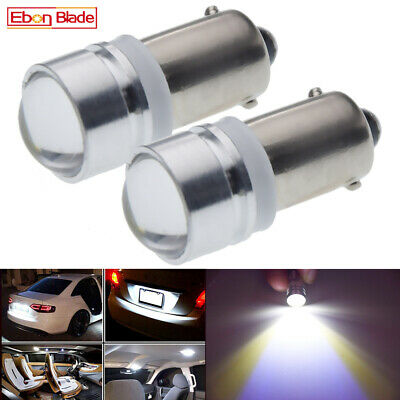 2 x BA9S BAYONET LED LIGHT BULB 2SMD 5630 WHITE PARKER 12V DC CAR GLOBE INTERIOR