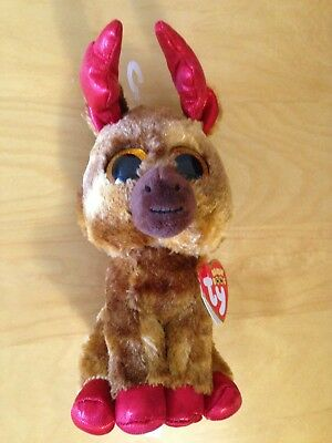 Ty Beanie Boos Moose Plush Toy Maple Canada Celebrating 150 Years - Brand New