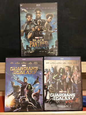 Black Panther (DVD, 2018), Guardians of the Galaxy Vol 1 & Vol 2 SELECT OPTIONS
