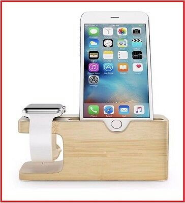Apple Watch Series 2 Stand Maxboost Wood Charging Stand Docking Station Holder