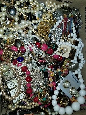 Vintage to New Jewelry Junk Lot 16lbs Harvest Repair, Craft, Pieces #1967