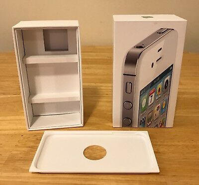 APPLE iPhone 4S 32 GB White EMPTY BOX & Tray ONLY