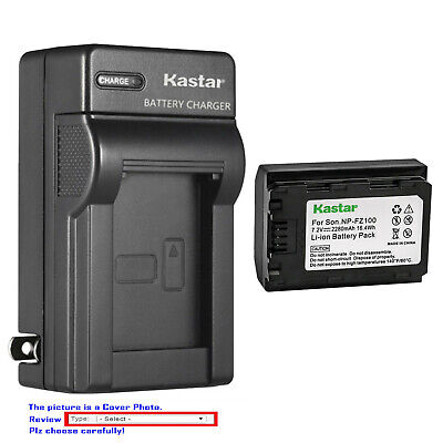 Kastar Battery Wall Charger for Sony NP-FZ100 BC-QZ1 & Sony Alpha a9S Camera