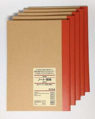 MUJI Blank Notebook B6 Unruled 30sheets  Pack of 5books
