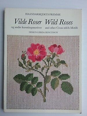 WILD ROSES & other Cross-stitch motifs. 80 pg. book