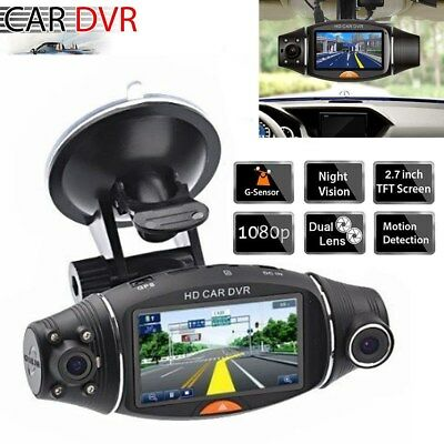 1080P HD Dual Lens 140° Dash Cam Car DVR Video Recorder Camera Front and Rear AU