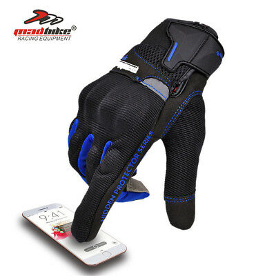 Thermal Waterproof Motorbike Motorcycle Gloves Carbon Fabric Knuckle Protection