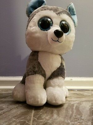 0185718ad42 Ty Beanie Boos SLUSH the Siberian Husky Dog Large 16 inch size... Beautiful