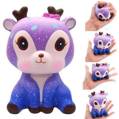 New Kawaii Galaxy Deer Cream Scented Slow Rising Squeeze Strap Kids Toy Gift USA