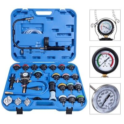 28 pcs Pressure Tester Vacuum-Type Cooling System Refill Kit Set For Vehicles US