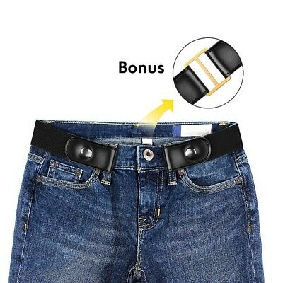 Buckle Free Belt for Women and Men No Buckle Elastic Stretch Belt for Jeans