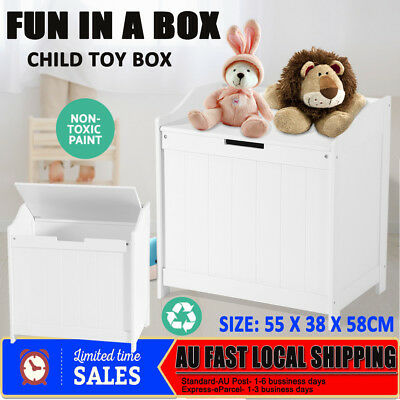 Kid Toy Box Chest Storage Cabinet Stackable Container Children Clothes Organiser