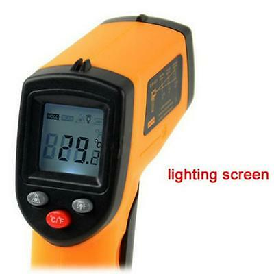 Digital Gun Infrared Non-contact Temperature IR LCD Thermometer GM320 Laser