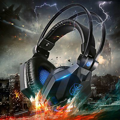 3.5mm Gaming Headset MIC LED Headphones for PC Mac Laptop PS4 Xbox One BEST GIFT