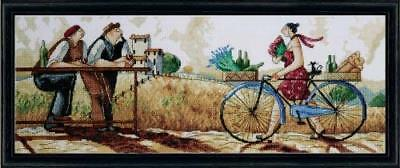 Counted Cross Stitch, The Delivery, 8 by 22 inches