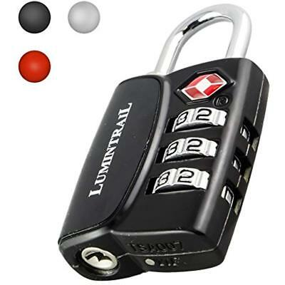 Lumintrail TSA Approved Travel Lock 3 Digit Resettable Combination All Metal For
