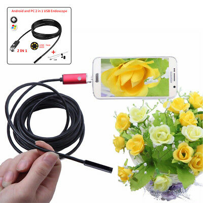 Car 5M 7mm Android mobile phone PC endoscope detection camera Borescope