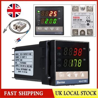 110V-240V Digital LED PID Temperature Controller Kits Thermostat Switch