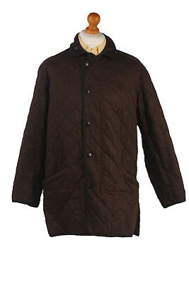 BARBOUR Duracotton Polarquilt Coat Jacket Vintage Brown Chest 48'' BR384