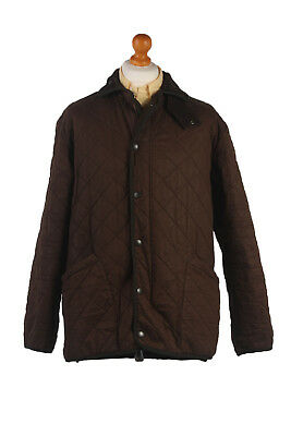 BARBOUR Duracotton Polarquilt Coat Jacket Vintage Brown Chest 50'' BR383