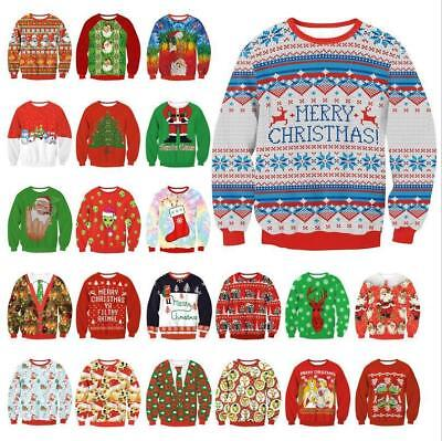 Mens Womens Ugly Christmas Sweater President Trump Xmas Knitted