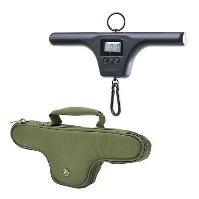 Wychwood Dual Screen T-Bar Digital Fishing Scales & System Select Pouch Set