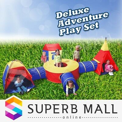Large Play Tent Kids Toddlers Tunnel Pop Up Children Cubby Playhouse Funny Toy