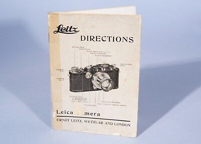 Leica Directions Book ** Camera Photography