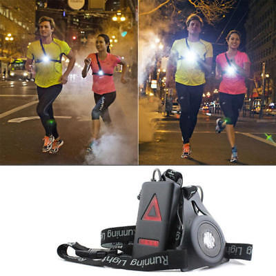 Outdoor LED Chest Light Night Running Warning Lights w/ Removable Fixing Band