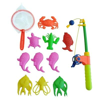 Magnetic Fishing Toy 10 Fish Kid Baby Bath Time Fun Game DT