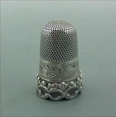 Antique Victorian Solid Silver Thimble