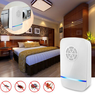 4x 2x Ultrasonic Electronic Anti Rat Mice Rodent Pest Bug Control Repeller