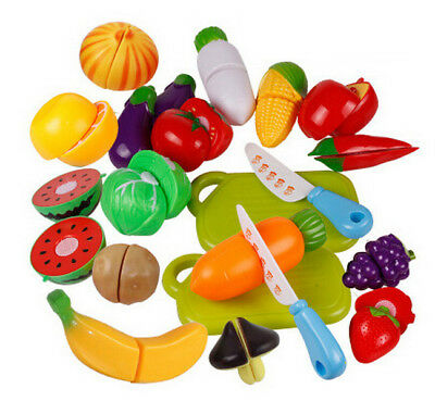 Fruit New Cutting Set Kitchen Pretend Reusable Fruit Vegetable Food Role Play