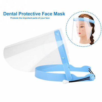 Protective Full Face Shield Frame Anti-Fog w/ 10 Protective Film Dental Home Use
