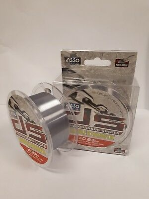 ASSO Fluorocarbon Coated Double Strength Fishing Line,0.24mm, 300m, 22.0lb, Grey