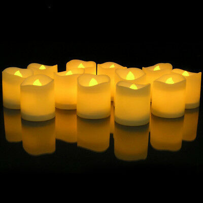 12Pcs Flickering Flameless LED Tea Light Candle Fake Candle Battery Operated