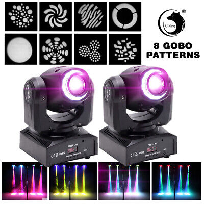 2PCS Stage Light 70W Moving Head LED RGBW Gobos Magical Circle For DMX DJ Party