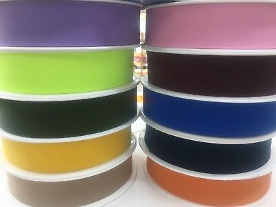 BESTQUALITY 1 M WaistBand 20mm/30mm /40mm FLAT COLOURED Elastic WOVEN 20Colours